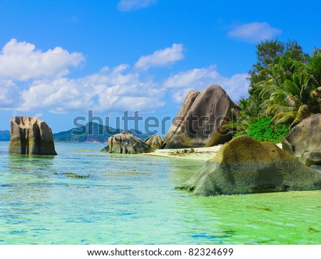 Paradise Wallpaper Cove - stock photo