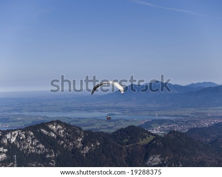 Paraglider in the german Alps