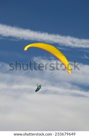 Paragliding over the Alps