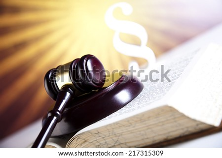 Paragraph of judge, law book   - stock photo