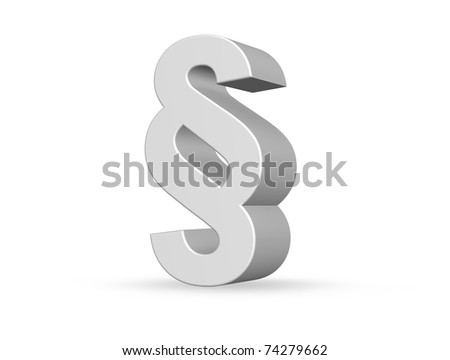 Paragraph Symbol On White Background 3 D Stock Illustration 74279662