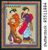 PARAGUAY - CIRCA 1971: stamp printed by Paraguay, shows Paintings of women, circa 1971. - stock photo