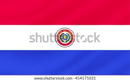 Paraguay flag - 3D illustration - stock photo