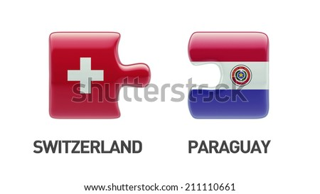 Paraguay Switzerland High Resolution Puzzle Concept
