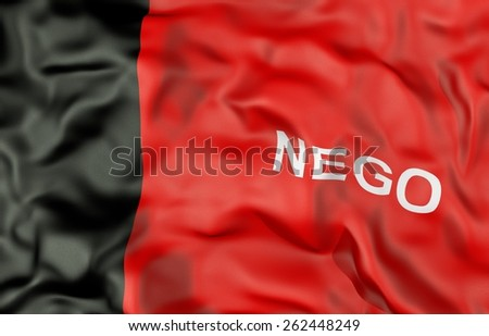Paraiba state corrugated flag 3d illustration - stock photo