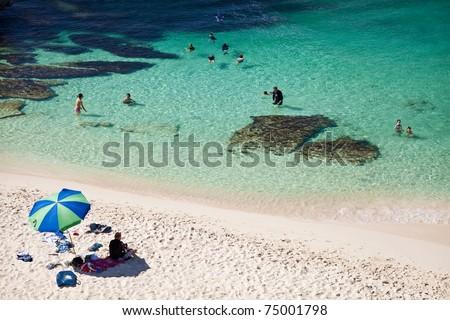 Parakeet Bay in Rottnest Island, Western Australia - stock photo
