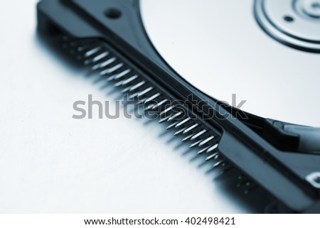 Parallel ATA of a laptop computer hard disk drive - stock photo