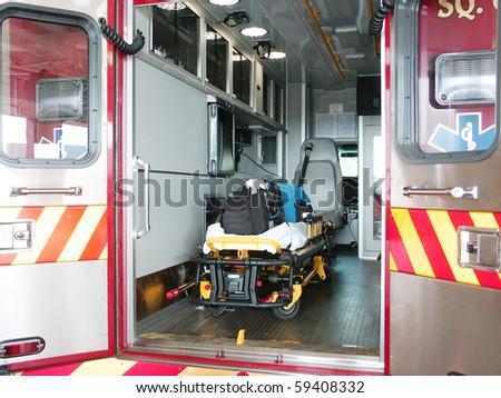 Paramedic's truck - stock photo
