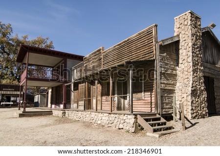 Paramount Ranch Western Town in the Santa Monica Mountains National Recreation Area, California - stock photo