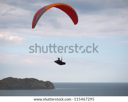 Paraplane in the sky, Crimea