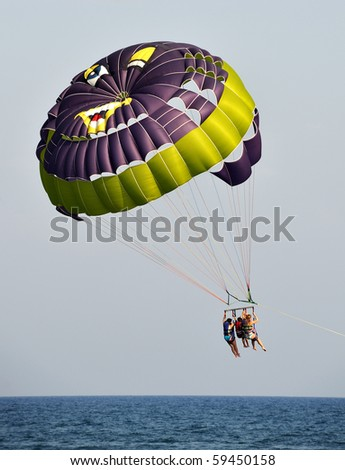 Parasailing in summer