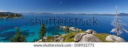 parasailing Lake Tahoe - stock photo