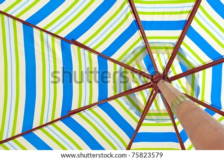 parasol from below - stock photo