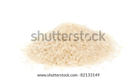 parboiled rice on a white background