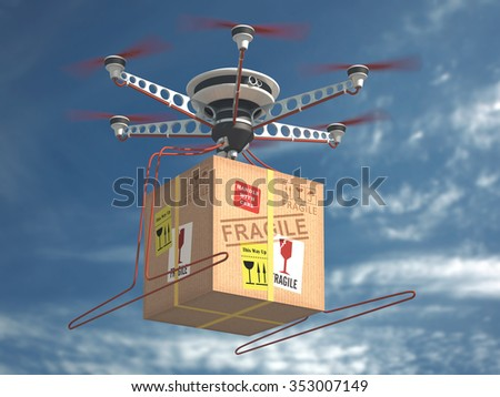Parcel delivery via drone. The future of mail.
