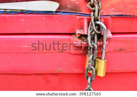 parcel with chain and padlock