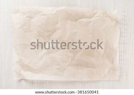 Parchment for baking culinary - stock photo