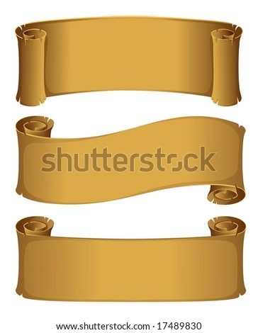 Parchment scroll - stock photo