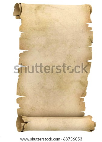parchment scroll 3d illustration isolated on white background - stock photo