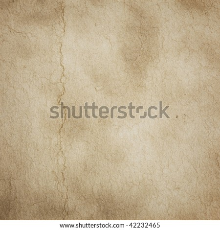 Parchment texture with crack like texture - stock photo