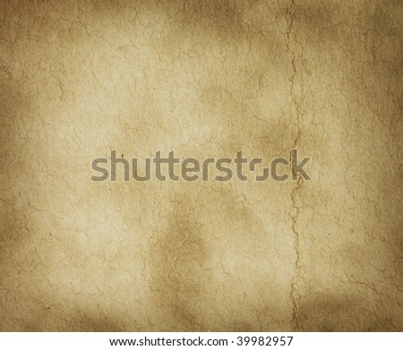 Parchment texture with slight crease mark - stock photo