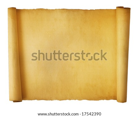 Parchment Textured Scroll - stock photo