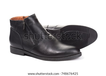 Pare of man shoes isolated on white background