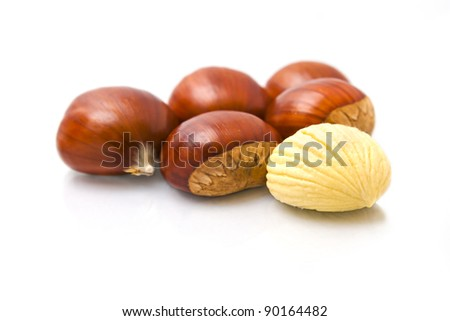 Parede class chestnuts, El Bierzo, Spain - stock photo