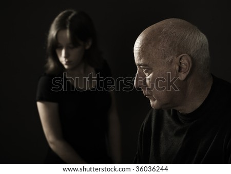 Parent-offspring conflict - stock photo