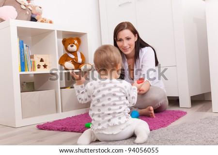 parenthood at home - stock photo