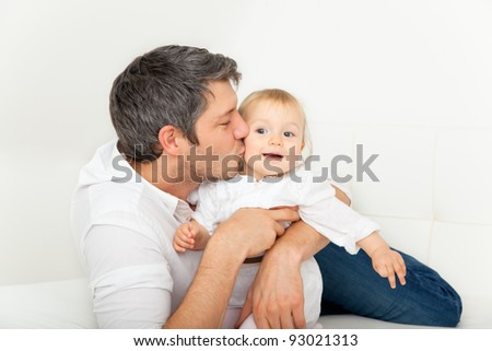 parenthood scene with kid - stock photo