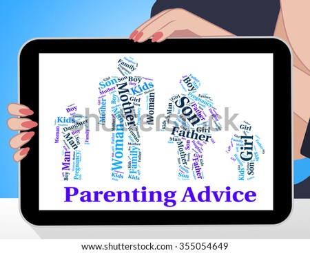 Parenting Advice Showing Mother And Child And Mother And Baby - stock photo