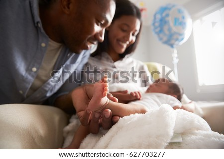 Parents Home Hospital Newborn Baby Stock Photo Royalty