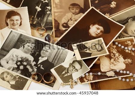 Parents' souvenirs - stock photo