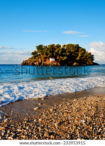Parga beach , Greece. Ionian sea. - stock photo