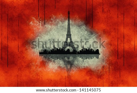 Paris - a city of love and romanticism  - stock photo