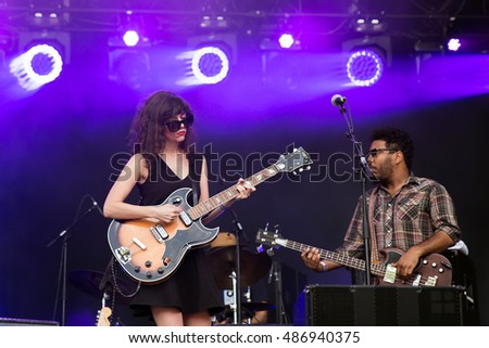 PARIS - AUG 31: Natalie Prass (singer and songwriter) performs at Rock En Seine Festival on August 31, 2015 in Paris, France.