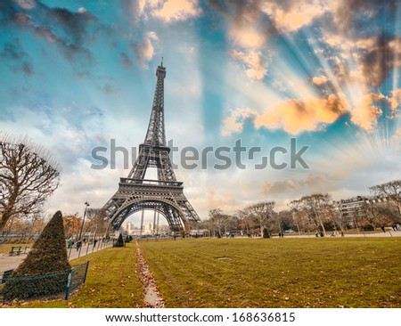 Paris. Beautiful city landmarks. - stock photo