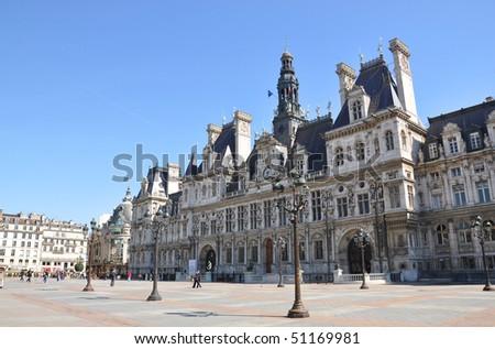 Paris City Hall (Hotel de Ville) - stock photo