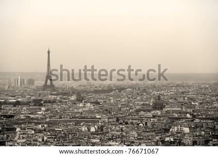 Paris cityscape - stock photo