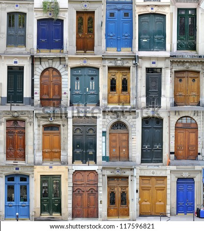 Paris doors - stock photo