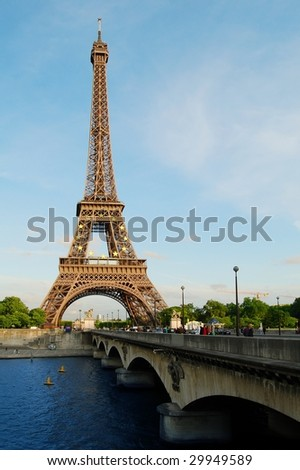Paris, Eiffel Tower in the Evening