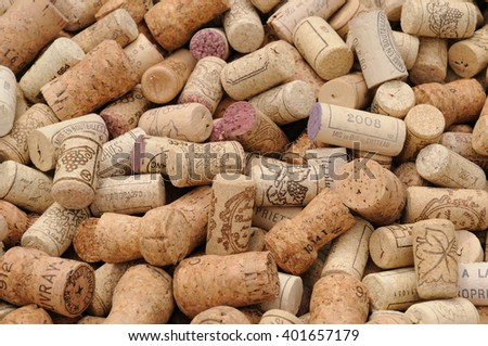 Paris, France - august 11 2010 : close up of french wine cork