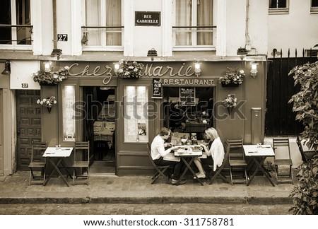 Paris montmartre stock images royalty free images for Restaurant chez marie marseille