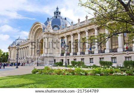PARIS, FRANCE, August 9, 2014: The famous Petit Palais museum in Paris, France - stock photo
