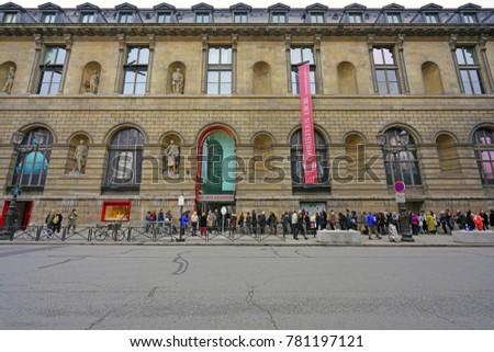 PARIS FRANCE 20 DEC 2017 View Stock Photo (Edit Now) 781197121 ... on
