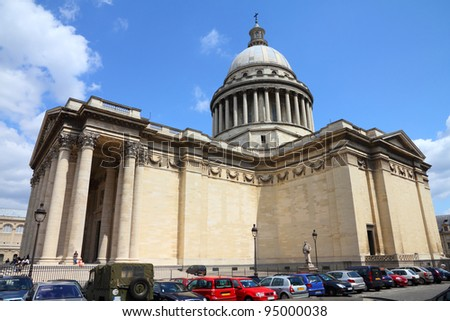 Paris, France - famous Pantheon in Latin Quarter. UNESCO World Heritage Site.