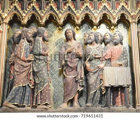 PARISFRANCE JANUARY 192017 Beautiful Scene Religious Stock Photo