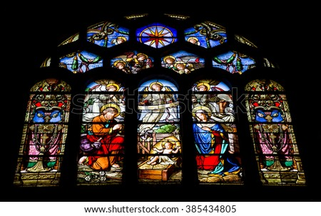 Paris, France, July 26.2015-Church of the Holy Eustace in Paris
