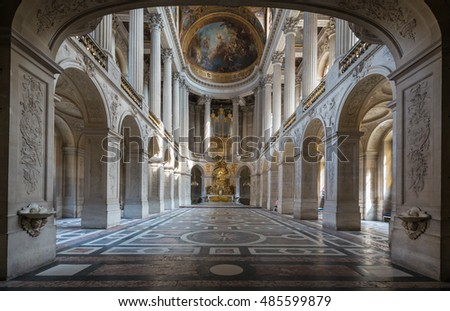 PARIS, FRANCE -16 July , 2015 : Interior of Chateau de a in Paris , france on 16 July , 2015